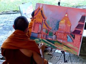 cuadro-monje-budista